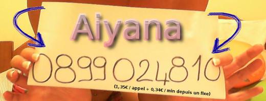 Confessions érotiques d'Aiyana au téléphone rose